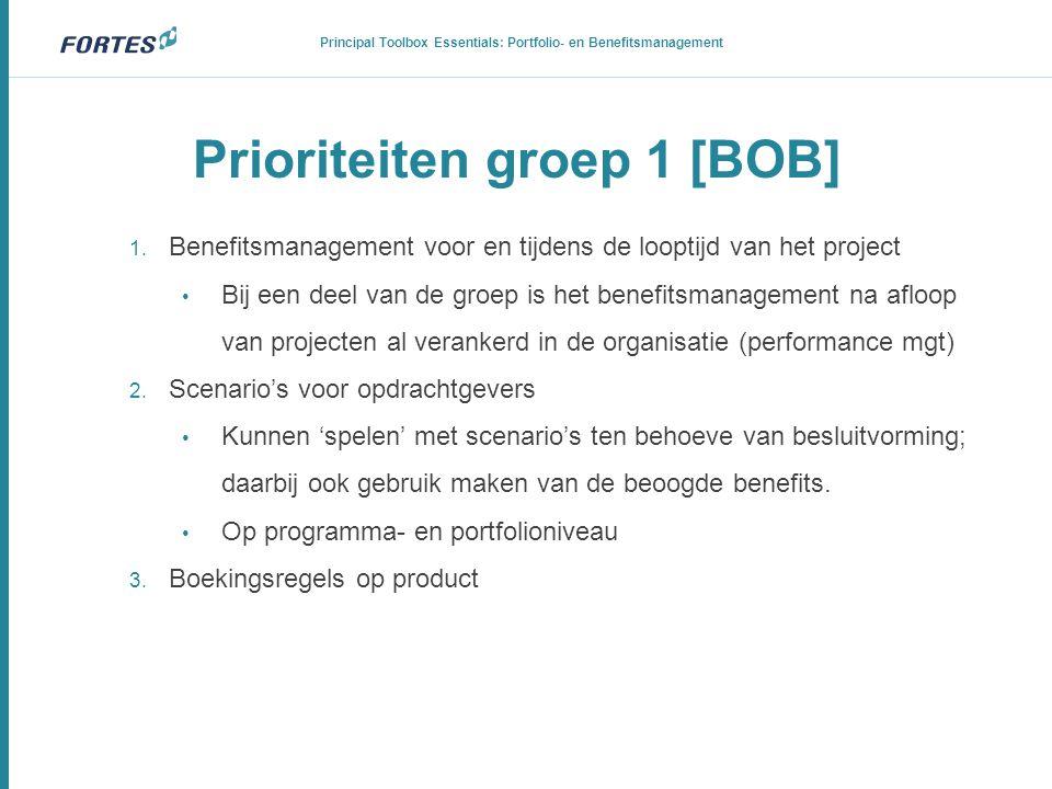 Prioriteiten groep 1 [BOB]